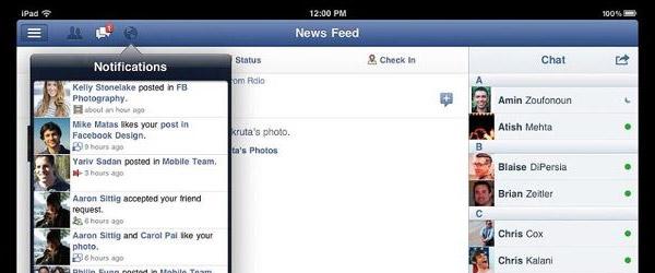 Facebook aplikacija za iPad