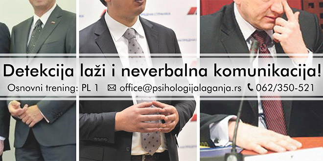 Novi datumi treninga Psihologije laganja u Nišu