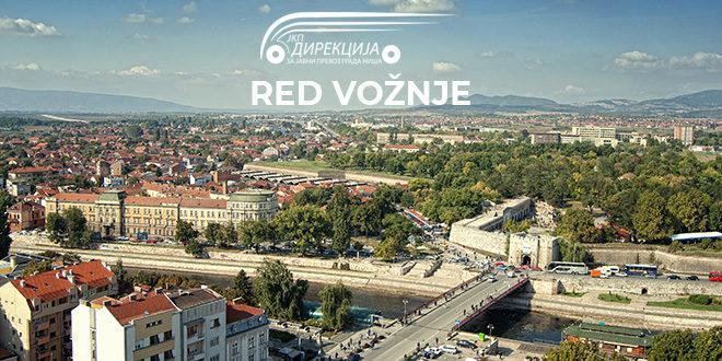 Javni gradski i prigradski prevoz u Nišu | Red vožnje